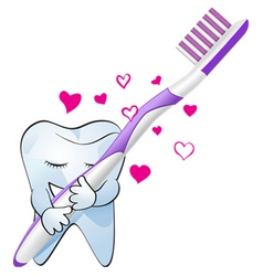 tooth love vector image