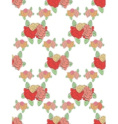 Modern seamless floral pattern vector