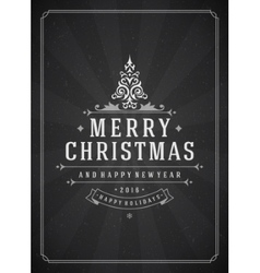 Merry christmas greetings card or poster design vector