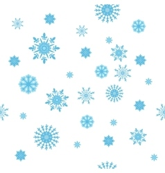Winter snowflakes seamless texture vector image