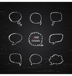 Hand drawn speech bubbles vector