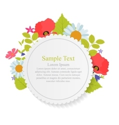 Abstract natural frame with flowers and leaves vector