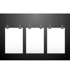 Set of hanging papers vector