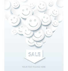 Background for sale and shopping with smiles vector