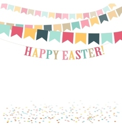 Retro minimal happy easter day cute flat vector
