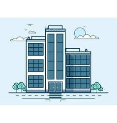 City street with office buildings administrative vector