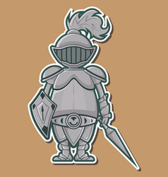 04 cute knight design vector