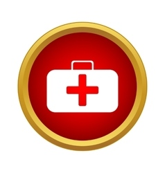 First aid kit icon in simple style vector