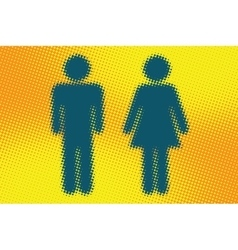 Male and female wc icon vector