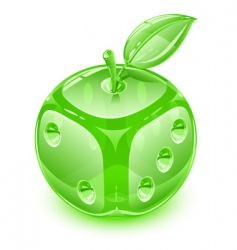 apple with leaf vector image vector image