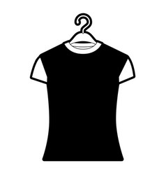 black sections silhouette of woman t-shirt in vector image vector image