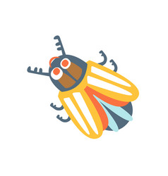 cartoon colorado potato beetle colorful character vector image vector image