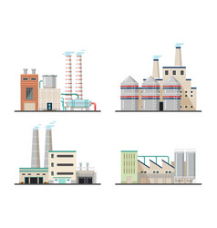 chemical plants and industrial power factory vector image vector image