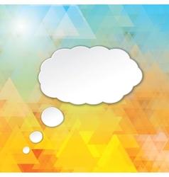 cloud speech bubble vector image vector image