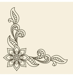 Corner ornament vector