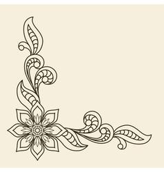Corner ornament vector image