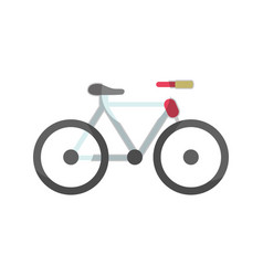 Cute bicycle to do exercise vector