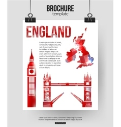 England travel background brochure with great vector
