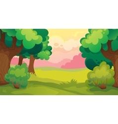 Evening leaf forest landscape vector