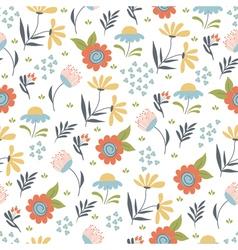 floral summer pattern vector image vector image