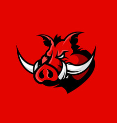 Furious boar head sport club logo concept vector