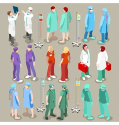 Hospital 21 People Isometric vector image vector image
