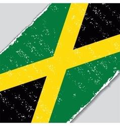 Jamaican grunge flag vector image