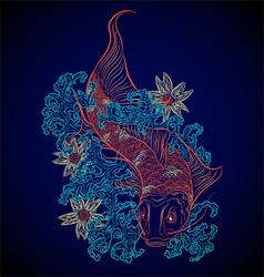 japanese fish koi vector image vector image