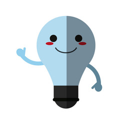 Kawaii lightbulb icon image vector