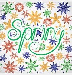 lettering spring vector image vector image