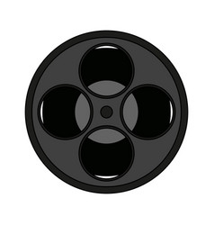Movie film reel icon vector