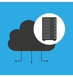Network server concept cloud connection vector