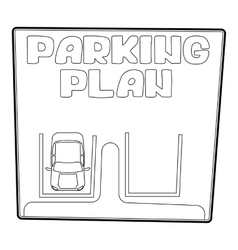 Parking plan icon isometric 3d style vector