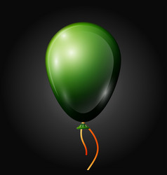 Realistic green balloon with ribbon isolated vector