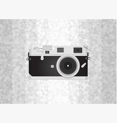 Retro camera or vintage camera in a flat style on vector