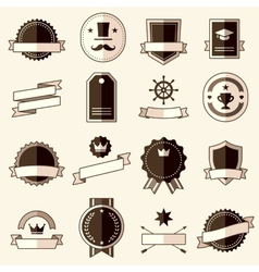 Retro flat vintage labels signs badges vector image vector image