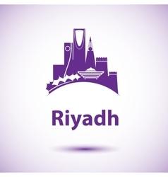 Riyadh skyline greatest landmarks as vector
