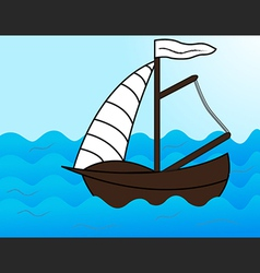 Sailing on the Sea vector image