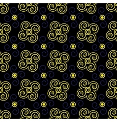 Seamless pattern blue and yellow vector image