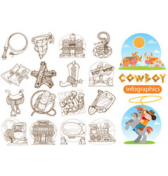 set of of for coloring on the theme of the wild vector image vector image