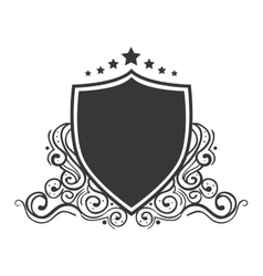 shield ornament stamp vector image vector image