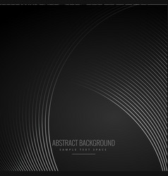 Smooth curve lines in dark black background vector