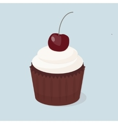 Sweet cupcakes isolated vector image