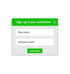 The subscription window vector