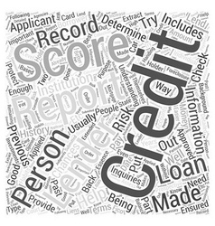 Understanding credit report score word cloud vector