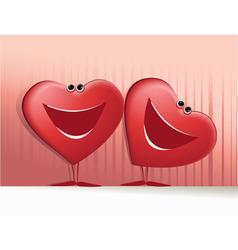 Valentines happy hearts vector image vector image