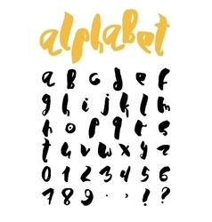 Handwritten trendy alphabet set vector