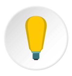 Powerful lamp icon flat style vector