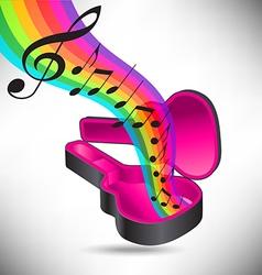 Guitar case rainbow notes vector