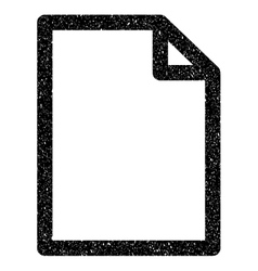 Empty page grainy texture icon vector